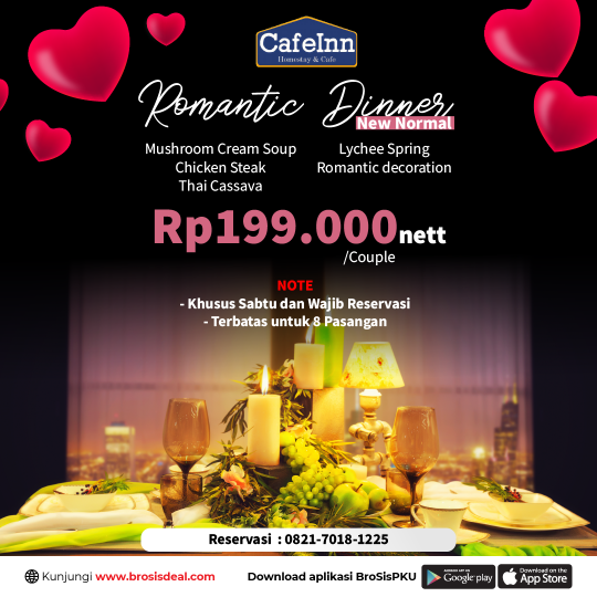 Cafeinn Homestay & Cafe Romantic Dinner Deal (saturday Only)