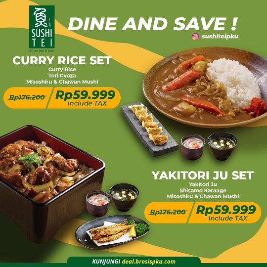 Sushi Tei Dine And Save Deal (monday-friday)