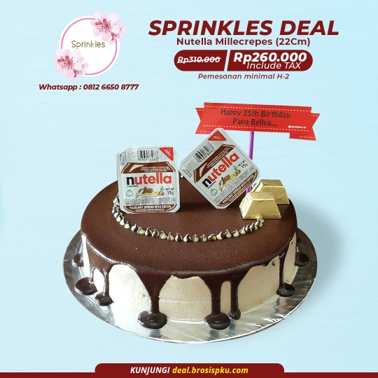 Sprinkles Nutella Millecrepes Deal (preorder)