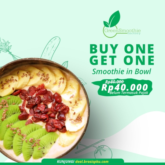 Greensmoothie Factory  Buy 1 Get 1 Free Deal