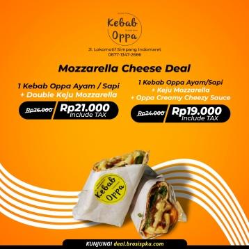 Kebab Oppa Mozzarella Cheese Deal