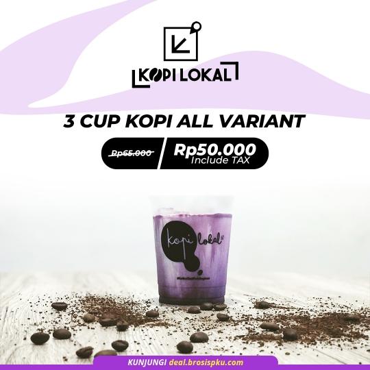 Kopi Lokal 3 Cup Kopi Deal