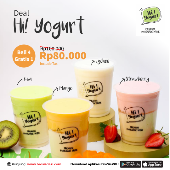 Hi Yogurt Buy 4 Get 1 Free Deal