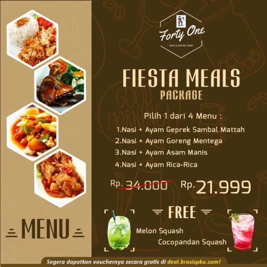 Forty One Cafe Fiesta Meal Deal