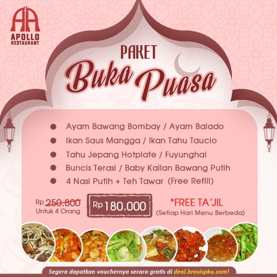 Apollo Restaurant Buka Puasa Berempat Deal