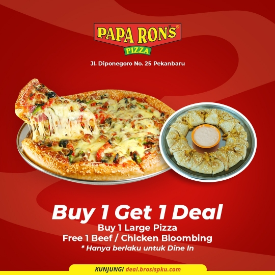 Paparons Pizza Buy 1 Get 1 Deal