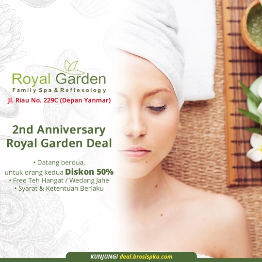 Royal Garden Family Spa Massage 2nd Anniversary Deal