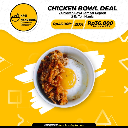 Nasi Mangkook Chicken Bowl Deal