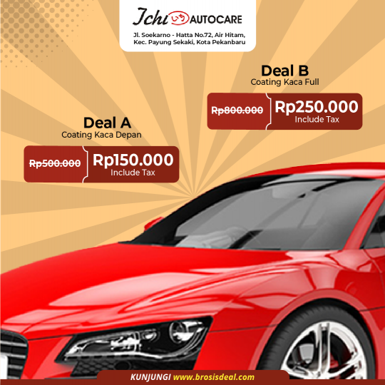 Ichi Autocare Coating Kaca Deal