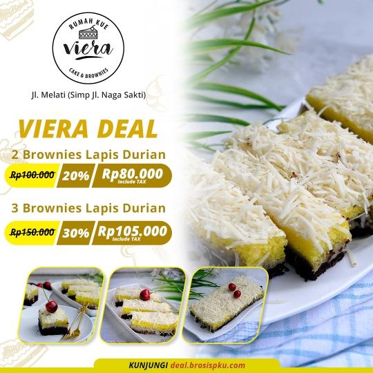 Rumah Kue Viera Brownies Lapis Durian Deal