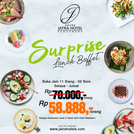 Grand Jatra Surprise Lunch Buffet Deal (tuesday-friday)