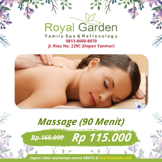 Royal Garden Family Spa Massage Deal
