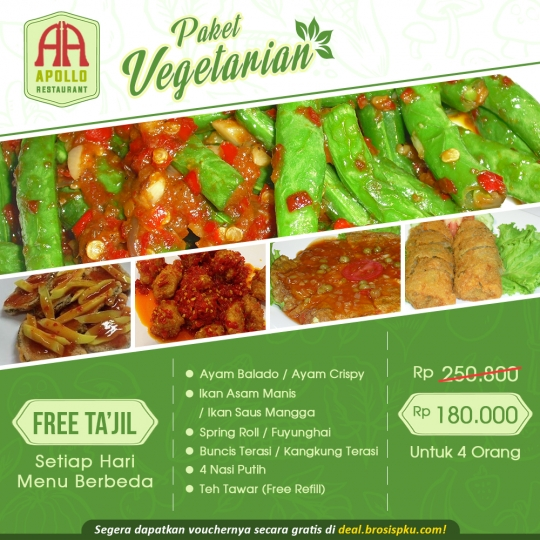 Apollo Restaurant Buka Puasa Vegetarian Deal