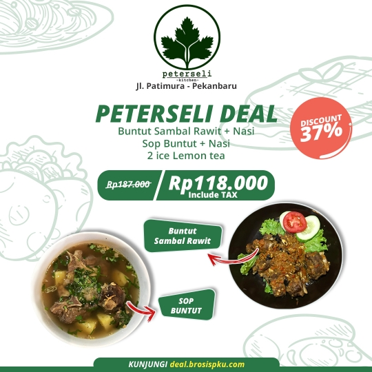 Peterseli Kitchen Deal (monday-friday)
