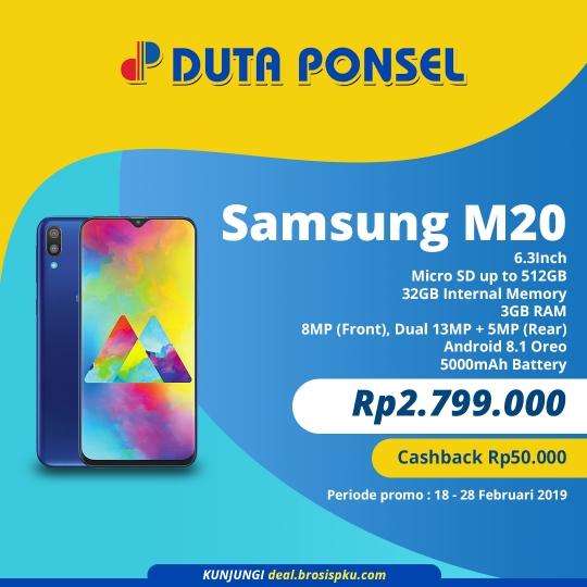 Duta Ponsel Samsung M20 Deal