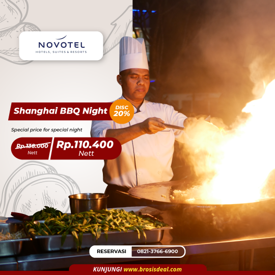 Novotel Shanghai Bbq Night Deal (saturday Only)