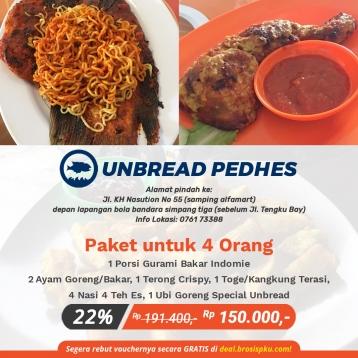 Unbread Phedes Gurami Bakar Indomie Deal