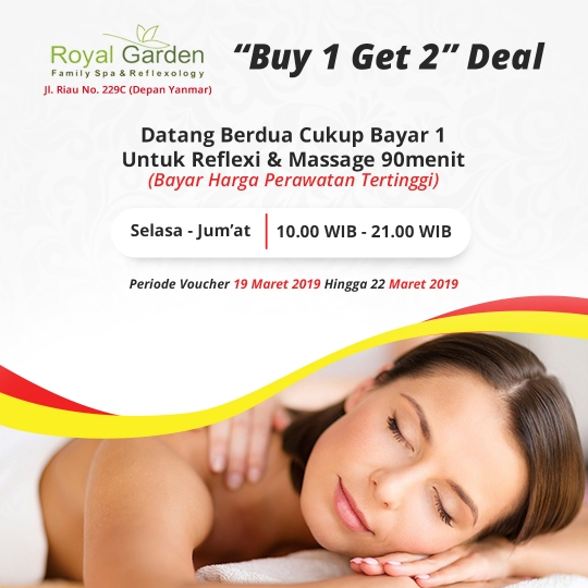 Royal Garden Family Spa Buy 1 Get 2 Deal