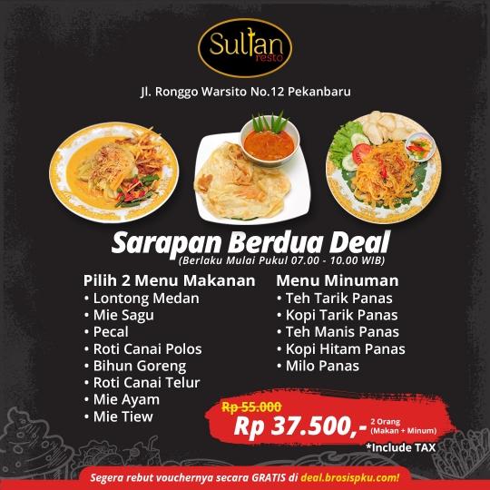 Sultan Resto Sarapan Berdua Deal