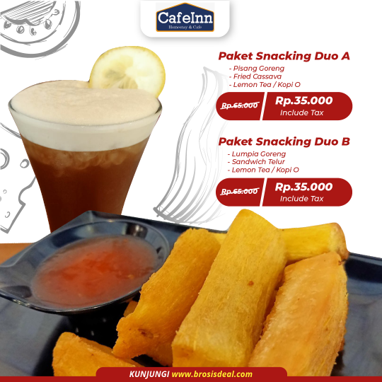 Cafeinn Homestay & Cafe Snacking Duo Deal