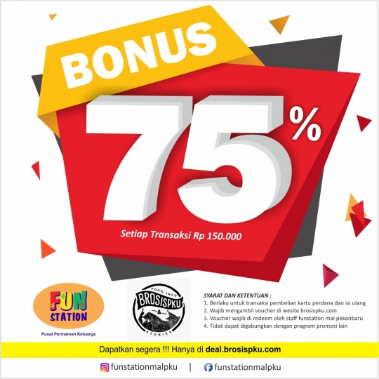Funstation Bonus 75% Deal