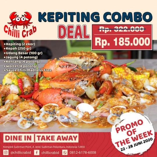 Chilli Crab Kepiting Combo Deal