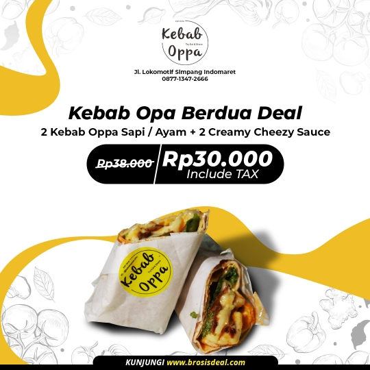 Kebab Oppa Berdua Deal