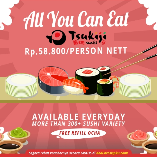 Tsukiji Sushi Ramadhan All You Can Eat Deal
