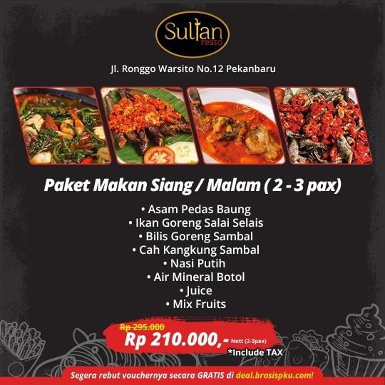 Sultan Resto Makan Siang/malam Deal
