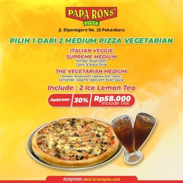 Paparons Pizza Vegetarian Deal