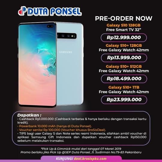 Duta Ponsel Preorder Galaxy S10 Deal