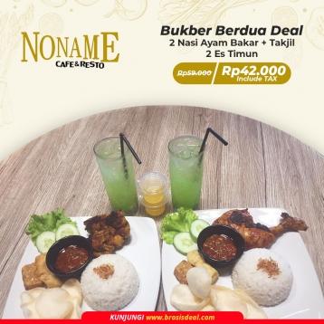 Noname Cafe & Resto Bukber Berdua Deal