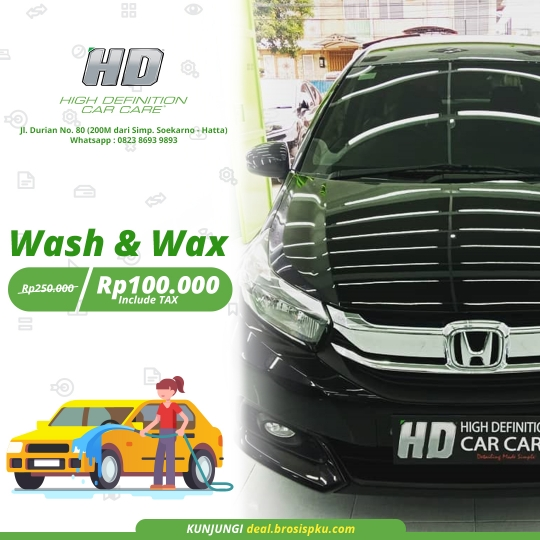 Hd Car Care Wash & Wax Deal