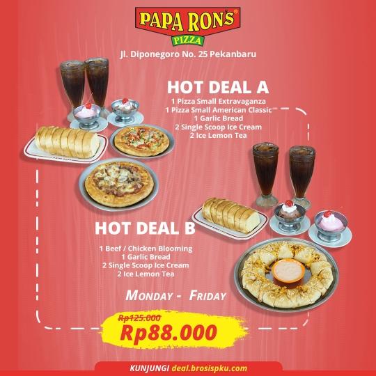 Paparons Pizza Hot Deal (monday-friday)