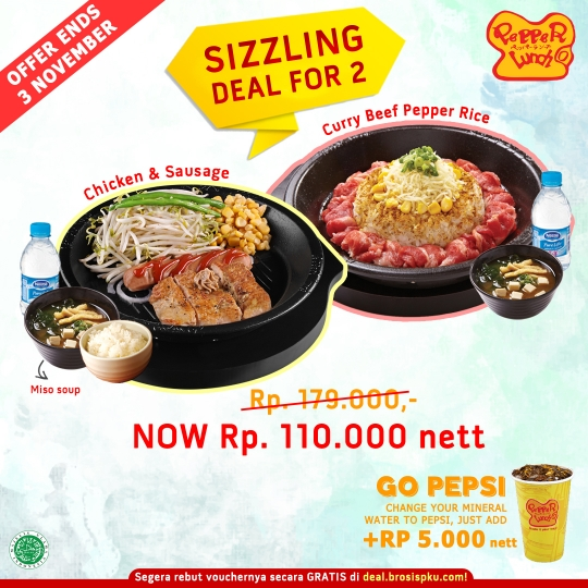 Pepper Lunch Sizzling Deal (monday-friday)