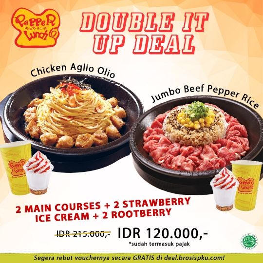 Pepper Lunch Double It Up Deal (monday-saturday)