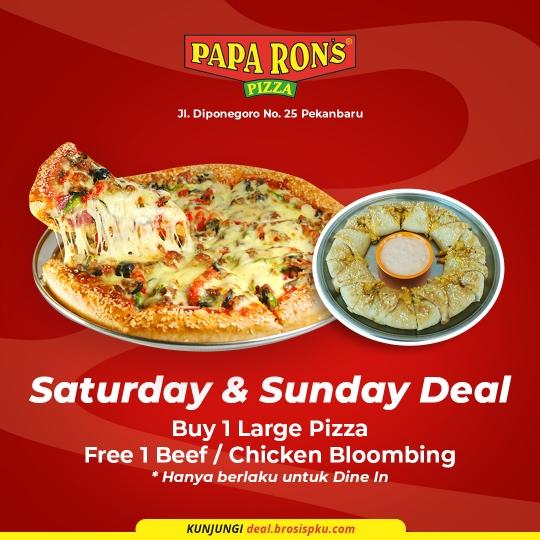 Paparons Pizza Saturday & Sunday Deal (saturday & Sunday Only)