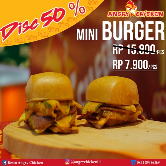 Angry Chicken Mini Burger Deal