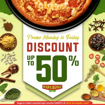 Paparons Pizza Monday To Friday Deal