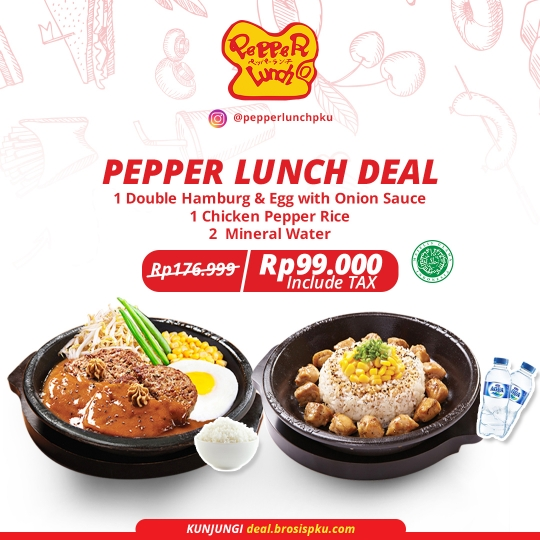 Pepper Lunch Berdua Deal (monday-friday)