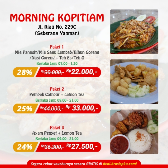 Morning Coffee Kopitiam Deal