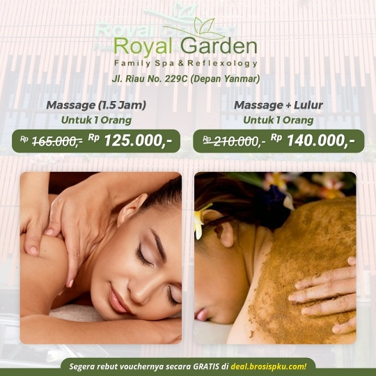 Royal Garden Family Spa Massage Lulur Deal