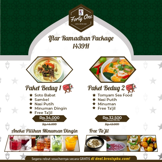 Forty One Cafe Iftar Ramadan Package Deal