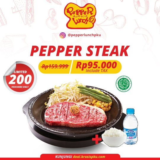 Pepper Lunch Steak Deal (monday-friday)