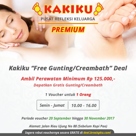 Kakiku Premium Free Gunting / Creambath Deal (monday-friday)