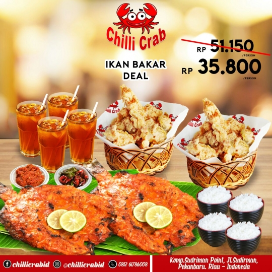 Chilli Crab Ikan Bakar Deal (monday - Friday)
