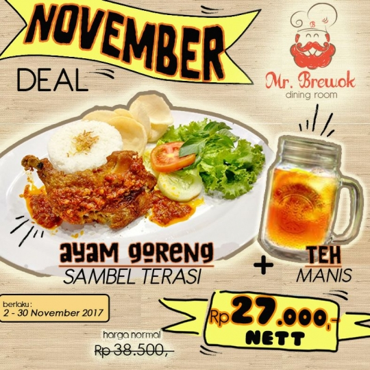 Mr Brewok Ayam Goreng Terasi Deal