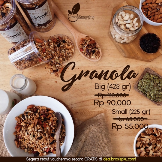 Greensmoothie Factory Granola Deal