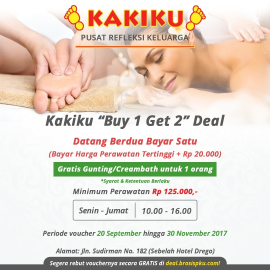 Kakiku Sudirman Buy 1 Get 2 Deal (monday-friday)