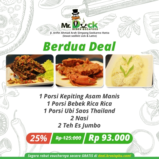 Mr Duck Bebek Seafood Deal